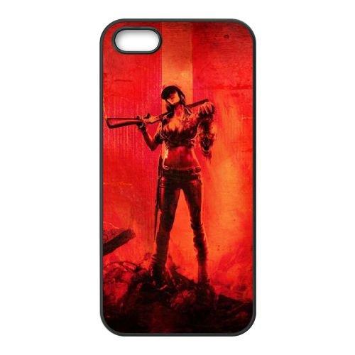 W1O52 Call of Duty Black Ops M5V4HG coque iPhone 5 cas de téléphone cellulaire 5s couverture de coque noire KK5XXM8NJ
