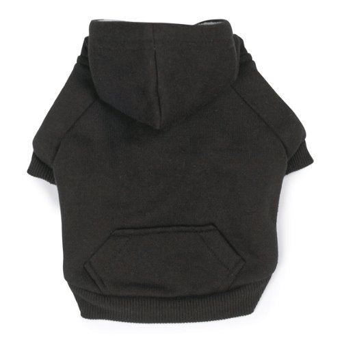 Zack and Zoey Polyester Fleece Lined Dog Hoodie, Medium, Black, My Pet Supplies
