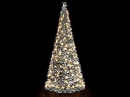 Snowtime Pre-Lit Flocked Holly Pop Up Christmas Tree 5ft - Snowtime Pre-Lit Flocked Holly Pop Up Christmas Tree 5ft: Amazon.co