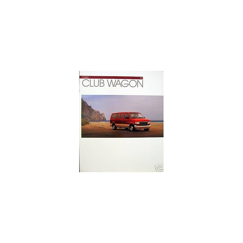 1993 Ford Club Wagon vehicle brochure