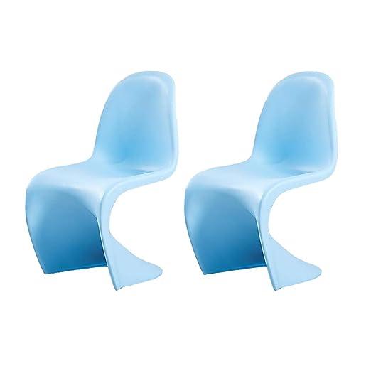Amazon.com: Silla de comedor de plástico moldeado S silla de ...