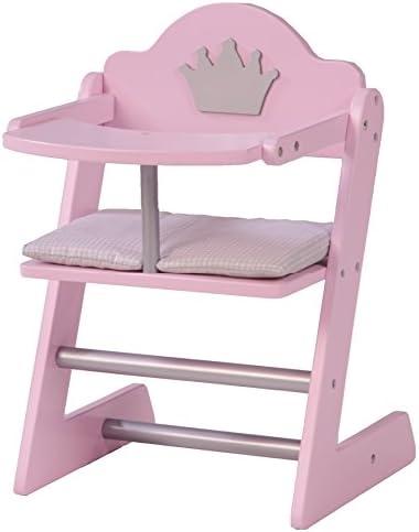 Puppenbett poupées Voiture Chaise haute armoire chambre enfant bois Rose Blanc-Sélection
