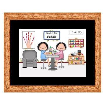 Nail Tech Cartoon Print Personalized Amazoncouk Kitchen Home