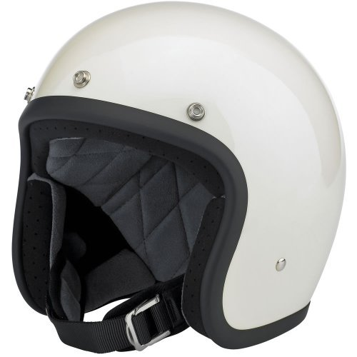 - Biltwell Inc. Bonanza Gloss Vintage White Open Face Helmet Small
