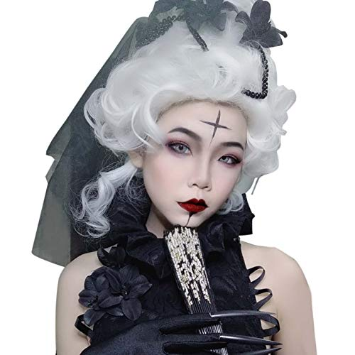 Adult Marie Antoinette Wig 18th Century Updo Baroque Colonial Costume Gothic Queen Party Wig ()