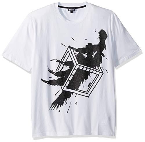 Cavalli Men Shirt - Just Cavalli Men's Graphic tee, White, L