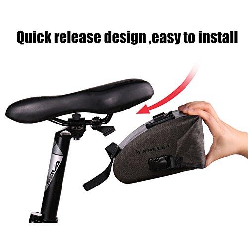 ASOSMOS Bike Saddle Bag,Waterproof Bicycle Seat Packs Triangle Bike Seat Storage Bag with Quick Release Buckle for Road Bike Mountain Bike MTB Bicycle by ASOSMOS (Image #5)