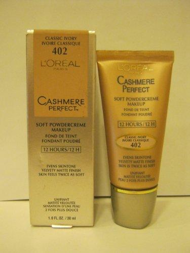 L'oreal Cashmere Perfect Soft Powder Creme Makeup - #402 Classic Ivory