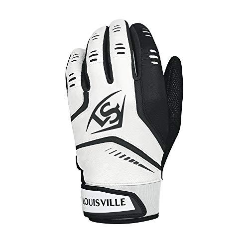 Louisville Slugger Omaha Adult Batting Gloves - Small, White/Black (Renewed)