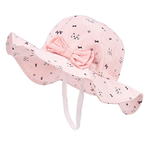 Toddler Baby Girls Sun Hats for Summer Sun Protection Beach Hat for kids 0M-6T by SOMALER