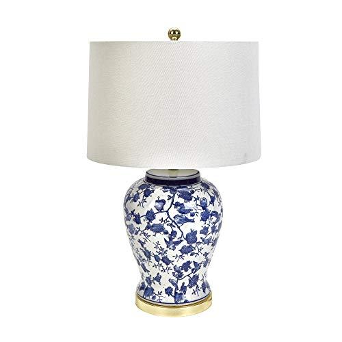 (Sagebrook Home 50051 Ceramic Blue & White Jar, 28