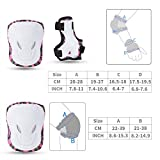 Kids Knee Pads, [2017 Protective Gear Knee Elbow Pads and Wrist Child's Pad Set for Inline Roller Skating Biking Sports Safe Guard (Pink)