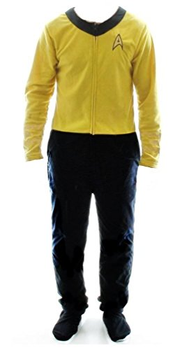 Star Trek Men's Gold Uniform Union Suit (Adult (Star Trek Pajamas For Adults)