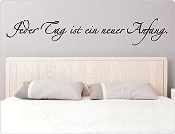 dekodino Wandtattoo Spruch Jeder Tag Anfang. Schlafzimmer ...