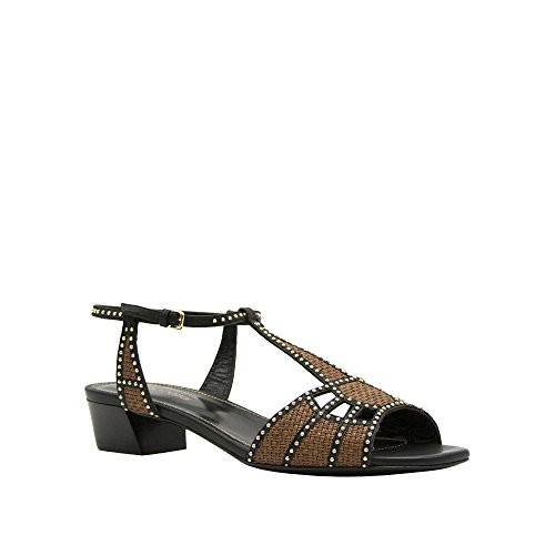 new-sergio-rossi-brown-black-woven-t-strap-sandal