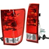 Evan-Fischer EVA15672067173 Tail Light Set of 2 Passenger & Driver Side Plastic lens OE design Clear and red DOT, SAE approved