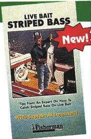 Live bait fishing striped bass vhs danny for Bass fishing with live bait