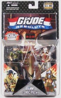G.I. JOE Hasbro 25th Anniversary 3 3/4 Wave 8 Action Figures Comic Book 2Pack Tunnel Rat vs. Storm Shadow - Joe 25th Anniversary Wave