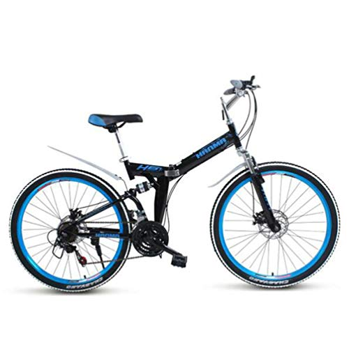 Nobuddy Folding Mountain Bicycle Bike Adult Lightweight Unisex Men City Bike 27-inch Wheels Aluminium Frame Ladies…