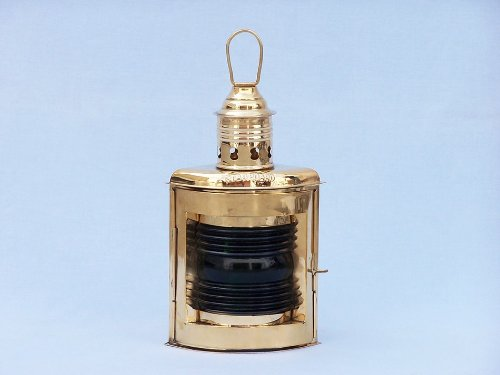 Port and Starboard Oil Lantern (Set of 2) Finish: Solid Brass by Handcrafted Model Ships (Image #5)