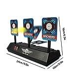 Pawaca Children Toy Airsoft Pistols Electronic Intelligent Light Sound Effect Scoring Target Round Shooting Practice Range Wheel Accessory Target Game (2 Pack)