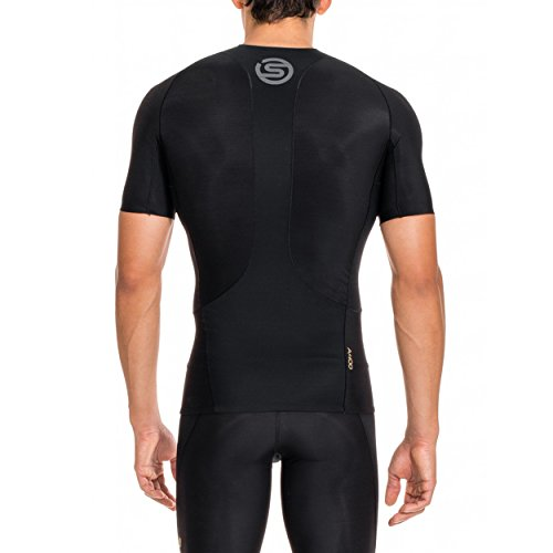 Skins Men's A400 Short Sleeve Compression Top, Black, Small by Skins (Image #2)