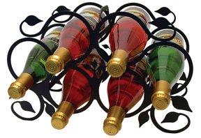 6 Bottle Wrought Iron - 1