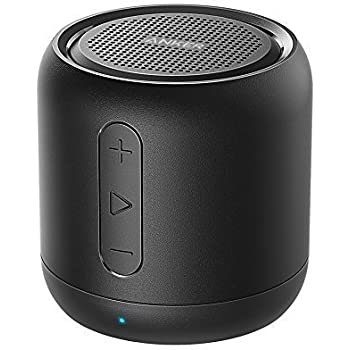 Anker SoundCore mini, Super-Portable Bluetooth Speaker with 15-Hour Playtime, 66-Foot Bluetooth Range, Enhanced Bass, Noise-Cancelling Microphone - Black