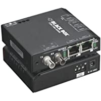 Black Box Extreme Media Converter Switch, 10-/100-Mbps Copper to 100-Mbps Fi