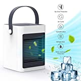 DOUHE Air Cooler,Portable Mini Air Conditioner Evaporative Air Humidifier Personal Space Cooler USB Desk Fan - Home Kitchen Office Nightstand, for Personal Use