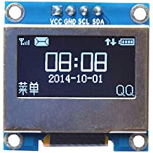 0.96 Inch 4Pin White LED IIC I2C OLED Display With Screen Protection Cover For - Arduino Compatible SCM & DIY Kits Module Board - 1 x White OLED display