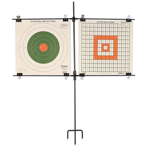 Allen Steel Frame Paper Target Rack, Holds 2