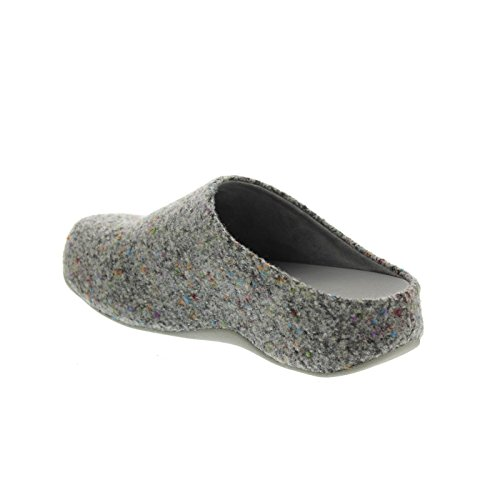 Women's Slip On Size 7 Soft Shuv FitFlop Grey Felt Grey Clog 7 4p76xxw
