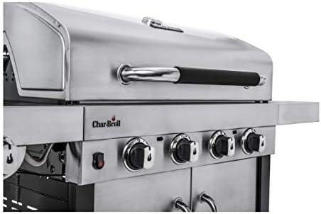 Char-Broil Advantage Series445S - Gril à gaz 4 feux avec brûleur latéral, acier inoxydable.