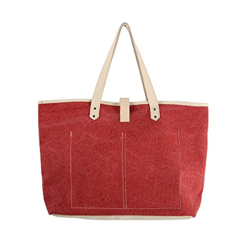 Land and Sea - Harbor Shopping Bag Red