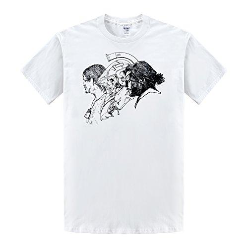 Metal Sleeve Tee Short (Kojima Productions MGS Metal Gear Solid Cotton Man Printed Short Sleeve Tshirts)
