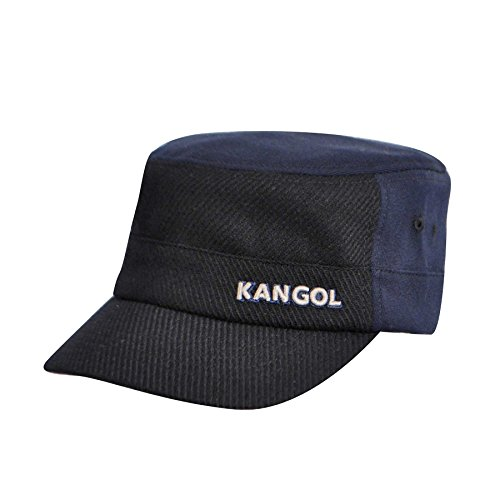 Kangol Unisex-Adult's Textured Wool Army Cap, Navy, S/M