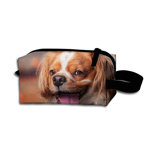 Makeup Cosmetic Bag Cute Dog Face Wind Medicine Bag Zip Travel Portable Storage Pouch For Mens -