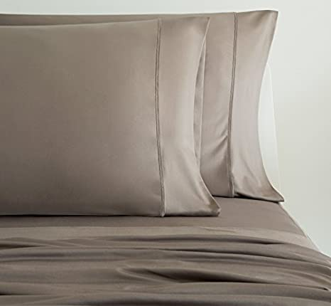 sheex luxury copper pillowcases set of 2 breathable pro ionic copper fabric taupe standard