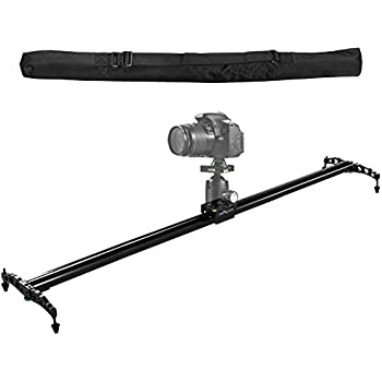 "IMORDEN 48""/120cm Ball-bearing Slider for DSLR Camera, Phone and Gopro (Max Load: 15lbs)for Youtuber, Use on Tripod"