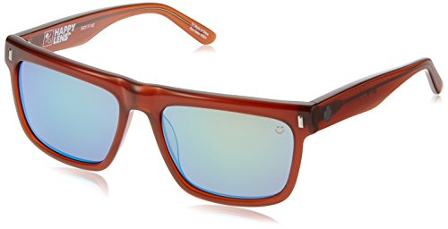 - Spy Optic Unisex Broderick Happy Lens Collection Sunglasses, Chestnut/Bronze with Emerald Spectra, O