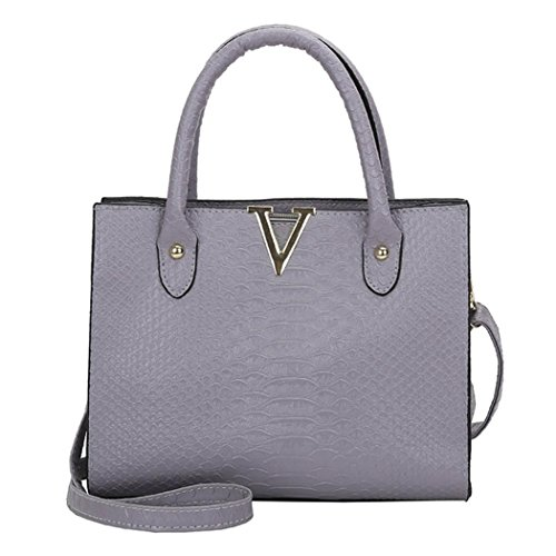 Phone Women PU Bag For Messenger Pattern NXDA Bag Black Purse Bag Bag Crossbody Handbag Gray and Bag Alligator Crossbody Girls Leather Women 4x6WqEwBA