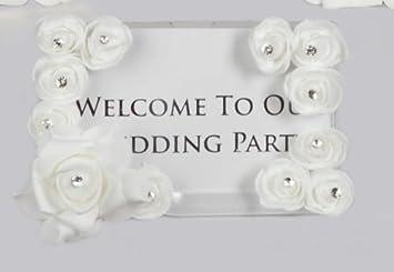 Hochzeit Blumenmuster Menukartenhalter Bilderrahmen Tischplan