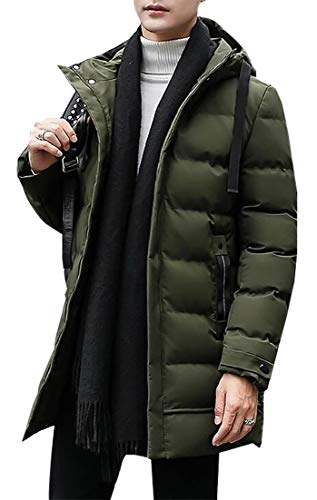 Puffer Color Hooded 1 Solid Winter Down Jacket Fashion Men's EKU wXqUP0ZP