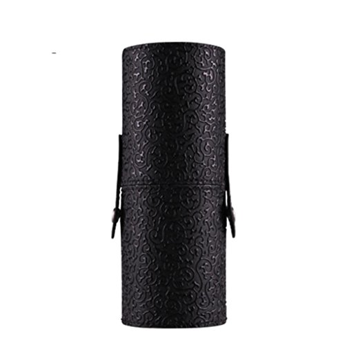 Binmer(TM)Professional PU Leather Makeup Brushes Holder Cosmetic Case Brush Container Cylinder Vessel Box Organizer (Black)