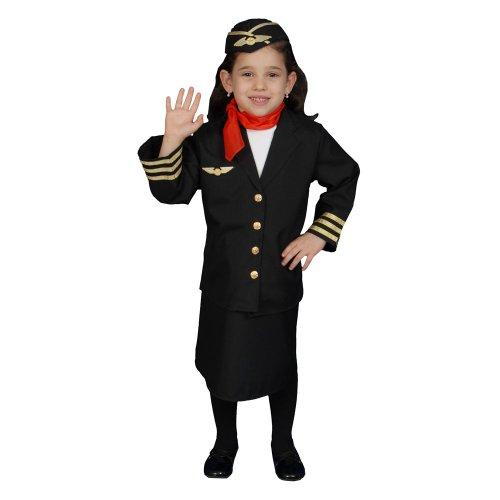 Dress Up America Flight Attendant Costume Set -