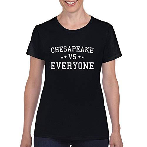 Donkey Threads Chesapeake Vs Everyone City Pride Womens Graphic T-Shirt, Black, Small