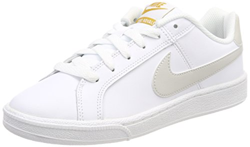 Nike Court Royale, Zapatillas de Running Para Mujer Blanco (White/light Bone-mineral Yellow 110)