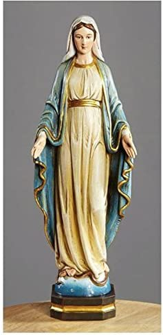 Lady of Grace Holy Figurine Religious Home Office Church Decoration Sculpture Statue 12