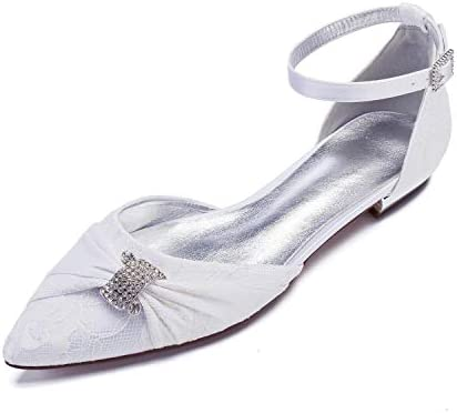 Lianyunneiyi Womens Comfort Shoes Lace Flower Butterfly Knot